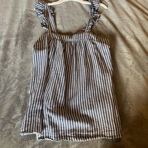 Old Navy blue and white striped top